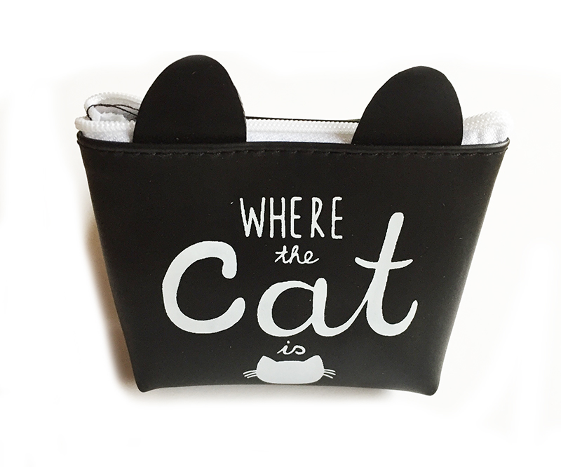 Neceser con orejas y mensaje: Home is where the cat is