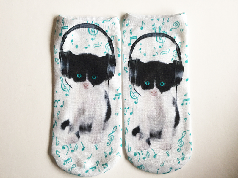 Calcetines gato musical